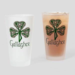 Gallagher Shamrock Pint Glass