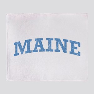 Vintage Maine Throw Blanket