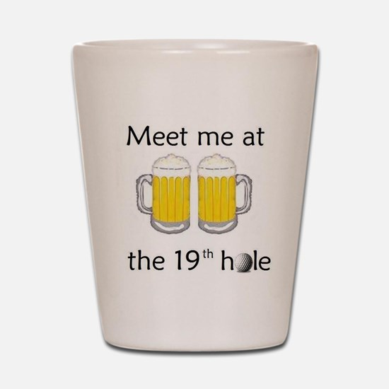 19th Hole Shot Glass