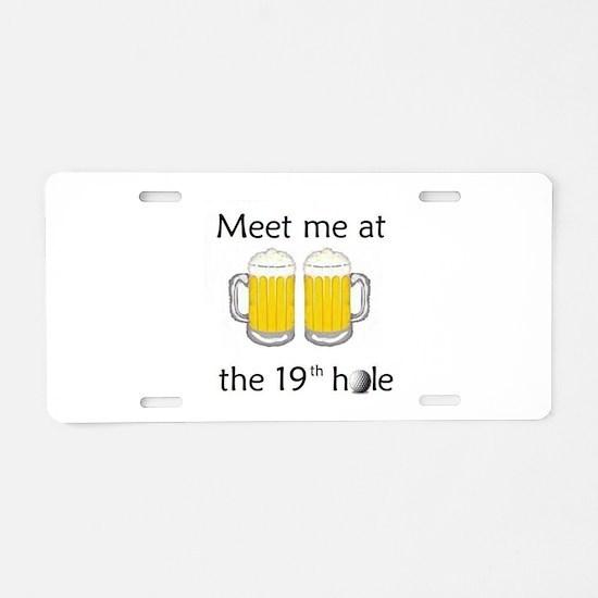 19th Hole Aluminum License Plate