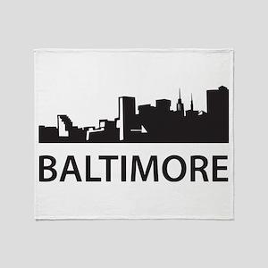 Baltimore Skyline Throw Blanket
