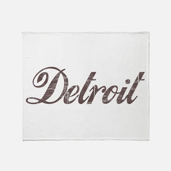Vintage Detroit Throw Blanket
