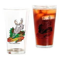 Mississippi White Tailed Deer Pint Glass