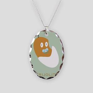 Frijolito/Baby Bean Necklace Oval Charm