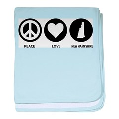 Peace Love New Hampshire baby blanket