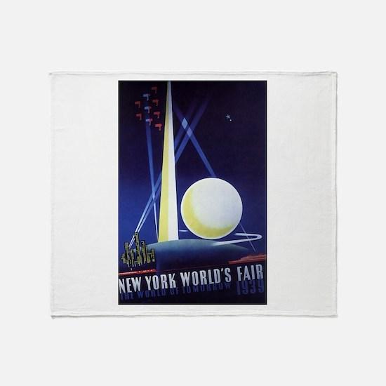 New York World's Fair Throw Blanket
