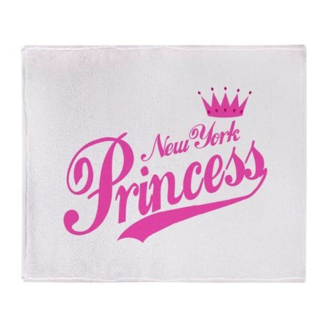 New York Princess Throw Blanket
