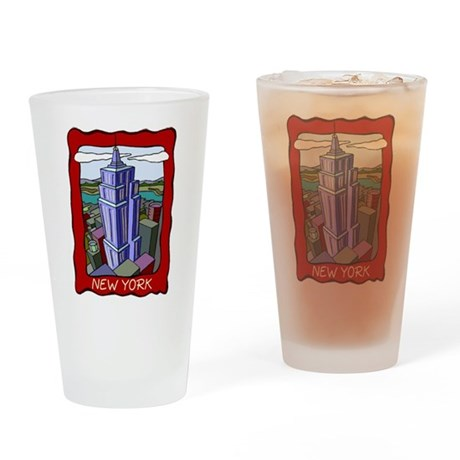 Empire State Building Pint Glass