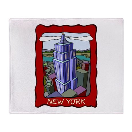 Empire State Building Throw Blanket