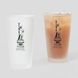 Hand Drawn Statue Of Liberty Pint Glass
