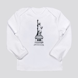 Hand Drawn Statue Of Liberty Long Sleeve Infant T-