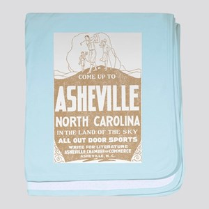 Vintage Asheville baby blanket