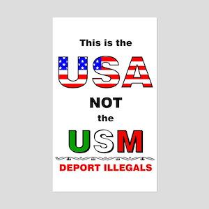 USA not USM Rectangle Sticker