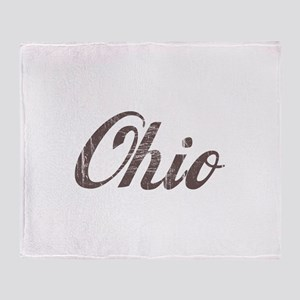 Vintage Ohio Throw Blanket