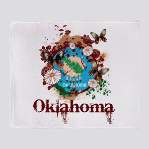 Stylish Oklahoma Throw Blanket