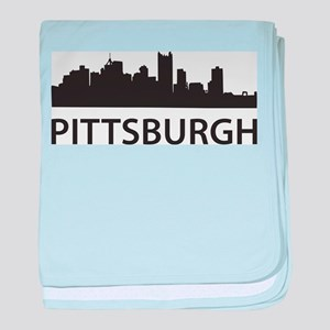 Pittsburgh Skyline baby blanket