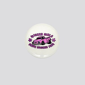 Wicked Girls Drive Wicked Toy Mini Button