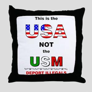 USA not USM Throw Pillow