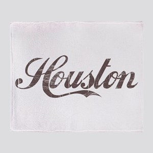 Vintage Houston Throw Blanket