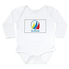 Benbrook Flag Long Sleeve Infant Bodysuit