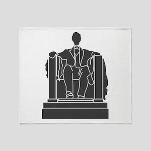 Lincoln Memorial Throw Blanket