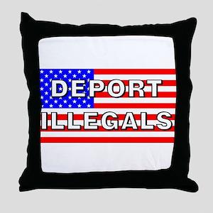 Deport Illegals Throw Pillow