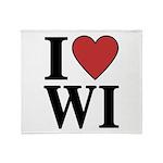 I Love Wisconsin Throw Blanket