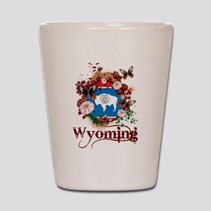 Butterfly Wyoming Shot Glass