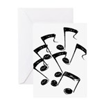 MUSICAL NOTES Greeting Card