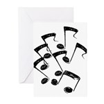 MUSICAL NOTES Greeting Cards (Pk of 10)