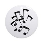 MUSICAL NOTES Ornament (Round)