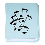 MUSICAL NOTES baby blanket