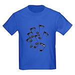 MUSICAL NOTES Kids Dark T-Shirt