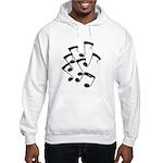 MUSICAL NOTES Hooded Sweatshirt