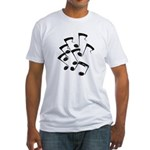MUSICAL NOTES Fitted T-Shirt