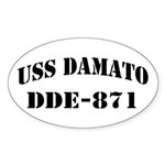 USS DAMATO Sticker (Oval)