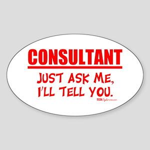 Consultant Oval Sticker