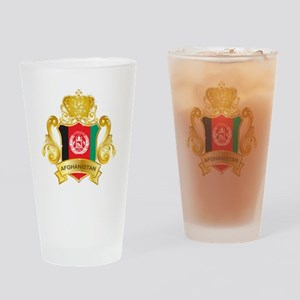 Gold Afghanistan Pint Glass