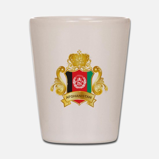 Gold Afghanistan Shot Glass