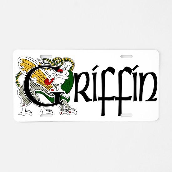 Griffin Celtic Dragon Aluminum License Plate
