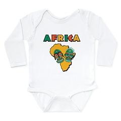 Africa Long Sleeve Infant Bodysuit