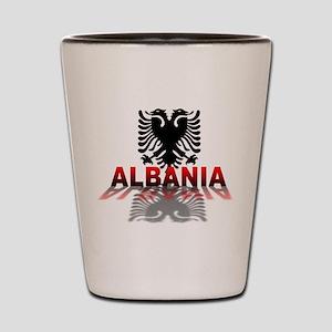 3D Albania Shot Glass