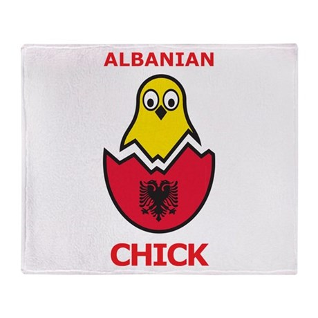 Albanian Chick Throw Blanket