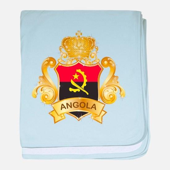 Gold Angola baby blanket