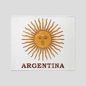 Argentina Sol de Mayo Throw Blanket