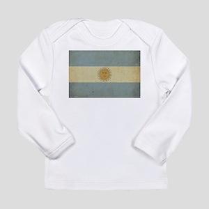 Vintage Argentina Flag Long Sleeve Infant T-Shirt