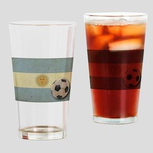 Vintage Argentina Flag Pint Glass