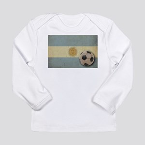 Vintage Argentina Flag Long Sleeve Infant T-Shirt