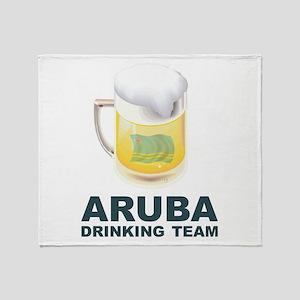 Aruba Drinking Team Throw Blanket