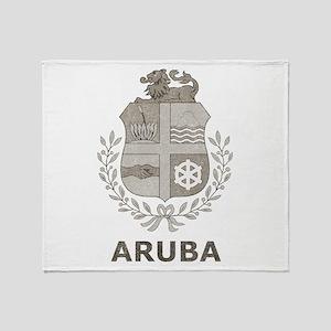 Vintage Aruba Throw Blanket